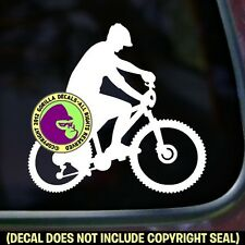 Mountain Bike Vinyl Decal Sticker Biking Trail Biker Love Sign Car Window Laptop