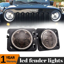 Smoke Lens LED  Fender Side Marker Parking Light for Jeep Wrangler JK 2007-2017