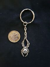 Large Spider Skull Key Ring Key Chain TIBETAN SILVER