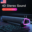 USB Computer Sound Bar LED Stereo Mini Wired Speakers For PC Desktop Laptop TV