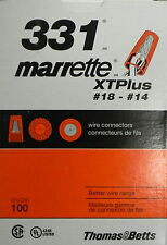Thomas & Betts #331 Twist Nylon Orange 18-14Awg Wire Connectors 100 Count