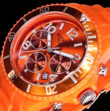 Madison New York Damenuhr Armband Uhr Orange 10 Atm Chronograph Silikon