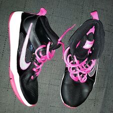 Women's Nike Shoe Black and Pink Sneakers Size 6.5Y WOMENS