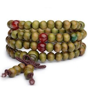 1Pcs Natural Sandalwood Buddhist Buddha Meditation Prayer Bead Mala Bracelets