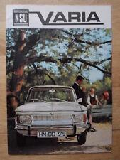 NSU orig 1965 Sales Brochure - Prinz 4 1000L 1000TT 110 Sport Prinz Coupe Spider