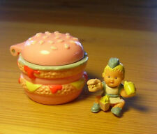 Polly Pocket Mini ♥ Mimi & The Goo goos ♥ pequeño hamburguesas con los dulces Mimi Baby ♥