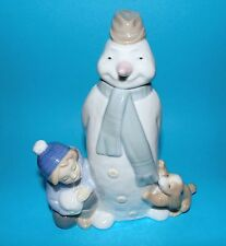 Nao by Lladro Figurine ' Winter game ' snowman   ornament  1st quality #1438