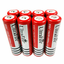 8Pcs Batterie 18*65mm 6800mAh Rechargeable 3.7V Li-ion Battery Torch Flashlight