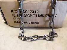 100 Feet of # 3 Straight Link Chain Trapping Traps Raccoon