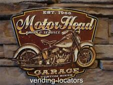 MOTOR HEAD Parts and Service MOTORCYCLE Garage Custom Bikes Harley Indian Scout