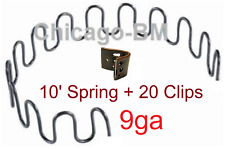 10 feet 9 ga + 20 EK Clips Zig Zag Spring-Furniture-Auto Upholstery-MADE IN USA