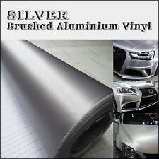 60x152cm en acier argent aluminium brossé adhésif vinyle wrap véhicule dash trim