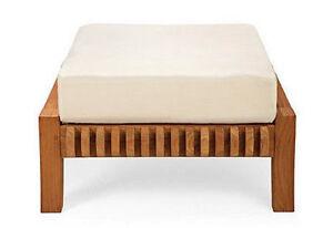 Giva A-Grade Teak Wood Outdoor Garden Patio Yard Lounge Chair Ottoman Set New