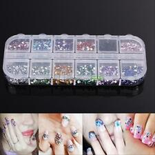 3600Pcs Nail Art Tips Studs Gems Crystal Rhinestones Shiny Glitter DIY Decor Kit