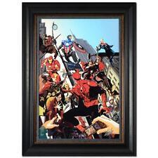 STAN LEE signed SPIDER-MAN Marvel ORIGINAL COMIC Artwork CANVAS Avengers Iron