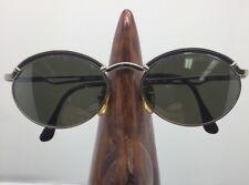 d800a6d4df VINTAGE RARE Byblos B597-S 3002 36 Sunglasses Metallic Oval Frames ITALY