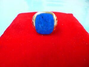 Herren Ring in 333er Gold Gr. 60 mit Lapislazuli--9,2 Gramm