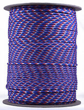 Red, White, and Blue - 550 Paracord Rope 7 strand Cord - 1000 Foot Spool