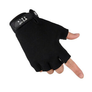Unisex Tactical Gloves Leather Half Finger Cycling Fitness Outdoor Sport Gloves