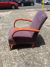 1950s Armchair with micro suede fabric