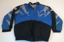 Vtg Detroit Lions Apex One Jacket Winter Coat Shark Tooth Fin Adult Large L