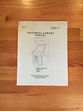 Universal Cabinet Video Arcade Game Manual, Midway 1992
