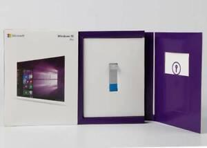 Microsoft Windows 10 Pro 32/64 Bit Flash Drive Sealed Pack Full Retail Version