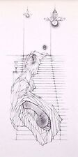 """HANS BELLMER mounted print, 1955, 12 x 10"""" Georges Bataille surrealist erotic 41"""
