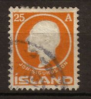ISLANDE 1911 N°67 25 a. Orange. TTB. P237