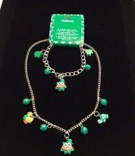 Girls Fashion Jewelry St Patricks Day Charm Necklace and Bracelet Set Claire's