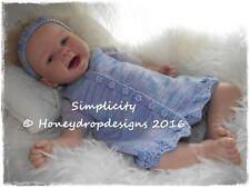 Honeydropdesigns SIMPLICITY PAPER KNITTING PATTERN * Reborn/Baby 0-12 Months