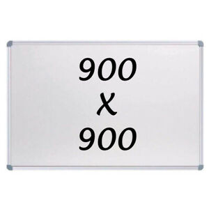 New Magnetic Whiteboard 900 X 900mm Writing Board Commercial 10yr Warranty