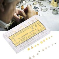 Gold & Silver Dome Flat Head Various Watch Crown Part Repairing Replacement Set