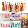 4M 5PCS Tissue Paper Tassel Garland Kit For Wedding Event Party Proms Decoration