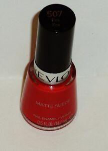 1 Revlon Matte Suede Sheer Enamel Nail Polish FIRE FOX #507