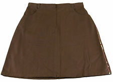JACADI Girl's Royaute Chocolate Skirt Age: 12 Years $64 NWT