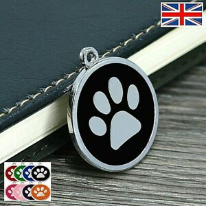 FREE ENGRAVING Dog ID / Cat ID Name Tag Paw Personalised Puppy Pet ID Tags