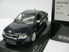 WOW EXTREMELY RARE Audi RS6 C5 Saloon Quattro 2002 Blue met 1:43 Minichamps-RS4