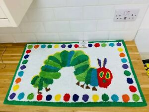 POTTERY BARN KIDS Eric Carle Very Hungry Caterpillar Bathmat mat Rug rainbow HTF