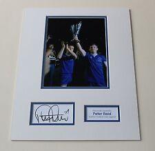 PETER REID Everton HAND SIGNED Autograph Photo Mount Memorabilia Display + COA