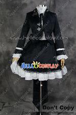 Vocaloid 2  Secret Police Hatsune Miku Black Cosplay Costume H008