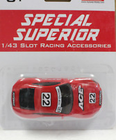 Carrera GO!!! COMPATIBLE SUPERIOR 202001 ACE RED RACER NEW 1/43 Slot Car