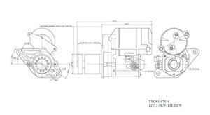 Starter Motor TYC 1-17534