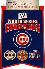 Chicago Cubs World Series Champions Winning Streak Wool Banner 1907-1908-2016