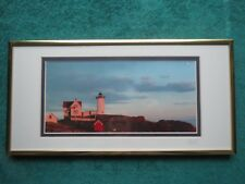 YORK MAINE CAPE NEDDICK THE NUBBLE LIGHTHOUSE - Arthur P. Richmond Signed Photo