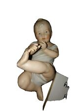 Antique Hand Painted Heubach Piano Baby Figurine Early 1900s