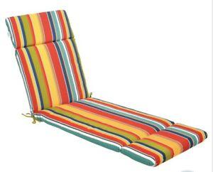 Chaise Cushion McRae Universal Multicolor Stripe Lounge Cushion m12
