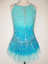 NEW FIGURE ICE SKATING BATON TWIRLING DANCE DRESS COSTUME ADULT L