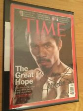 Manny Pacquiao Signed Boxing Time Magazine Program - PSA DNA Authentic