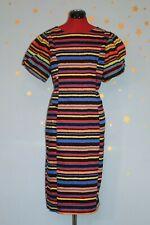 90s Vintage Muy Colorido Vestido para Boda Festival
